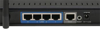Порты WiFi роутера D-Link DIR 400