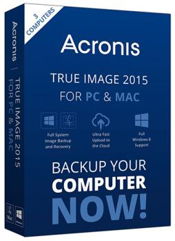 Acronis True Image Unlimited для ПК и Mac 3 ПК - Upgrade с 2014 3 ПК
