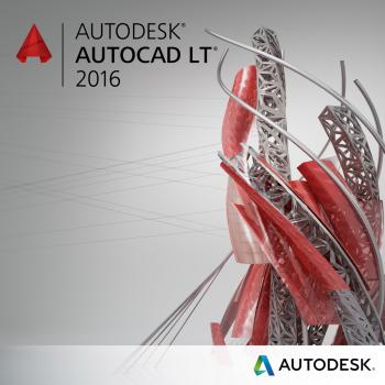 Autodesk AutoCAD LT 2016 Commercial New SLM DVD R3 ESD